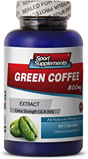 Green Coffee Pure Cleanse - Green Coffee Extract 800mg - Premium Fat Burner Herbal Natural Green Coffee Bean Extract (1 Bottle 60 Capsules)