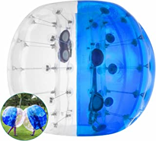 Popsport Inflatable Bumper Ball 4FT/5FT Bubble Soccer Ball 0.8mm Eco-Friendly PVC Zorb Ball Human Hamster Ball for Adults and Kids (5FT Half Blue)