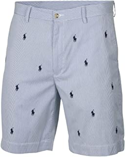 Polo Ralph Lauren Men's Classic Fit Shorts Blue Pinstripe All-Over Pony