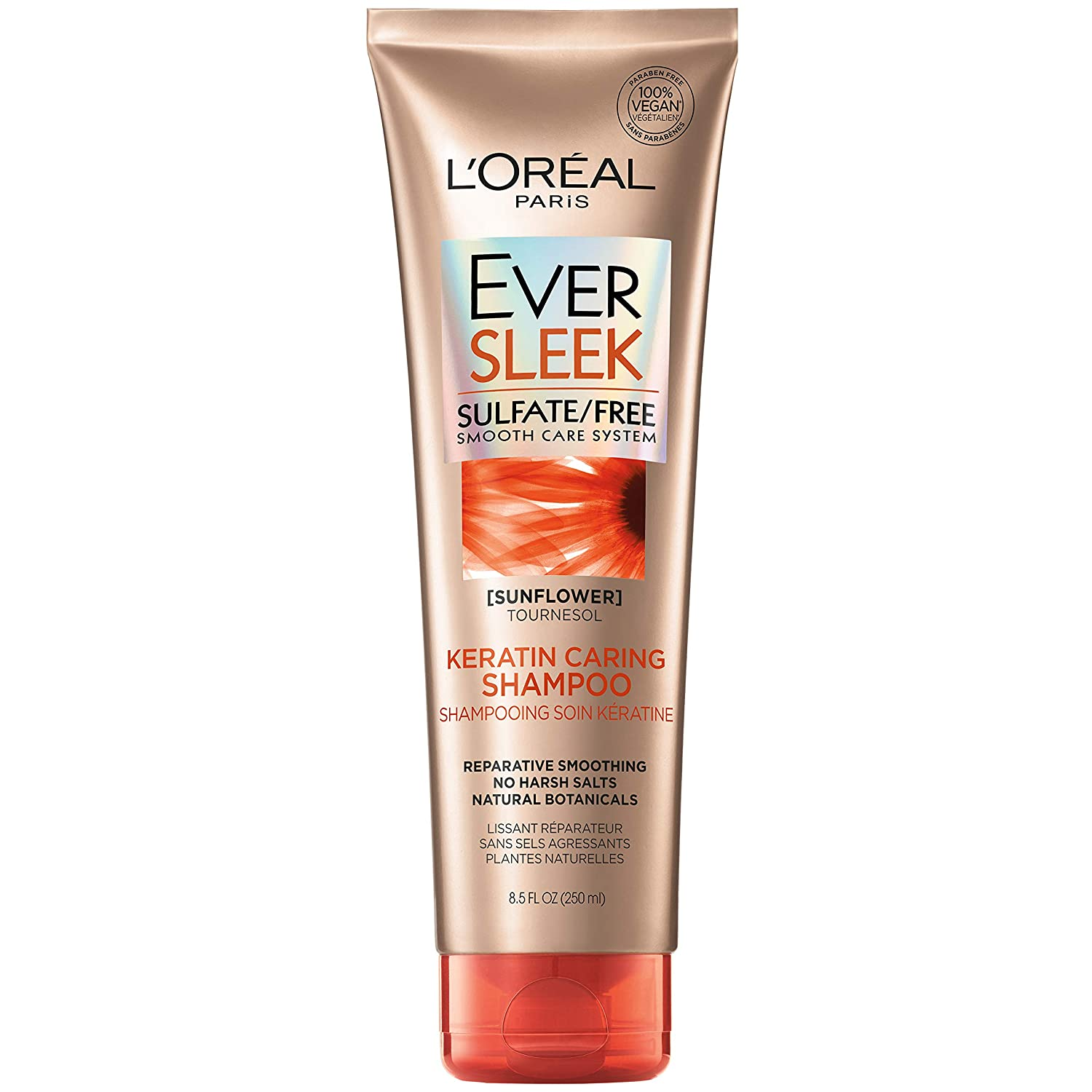 L'Oreal Paris EverSleek Sulfate Free wit Our shop OFFers the best service Caring Keratin Over item handling ☆ Shampoo