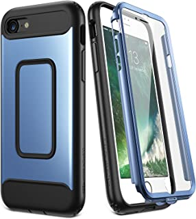 YOUMAKER Case for iPhone 8 & iPhone 7, Full Body with Built-in Screen Protector Heavy Duty Protection Shockproof Slim Fit Cover for Apple iPhone 8 (2017) / iPhone 7 (2016) 4.7 Inch - Blue