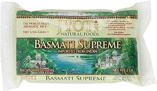 Jyoti Natural Foods Basmati Supreme Rice, 32-Ounce Bags (Pack of 6)