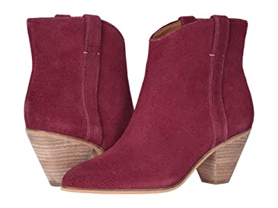 FRYE AND CO. Maley Pull Tab (Raspberry Suede) Women