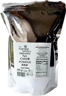 ORGANIC AUSTRALIAN CAROB CO. PREMIUM 2.2lb TRUE RAW CAROB POWDER, RE-SEALABLE BAG, Superfood, Paleo, (Milled without Heat,off-white in color) NON-GMO, World's #1 Best Tasting Raw Carob, Organic, Carob