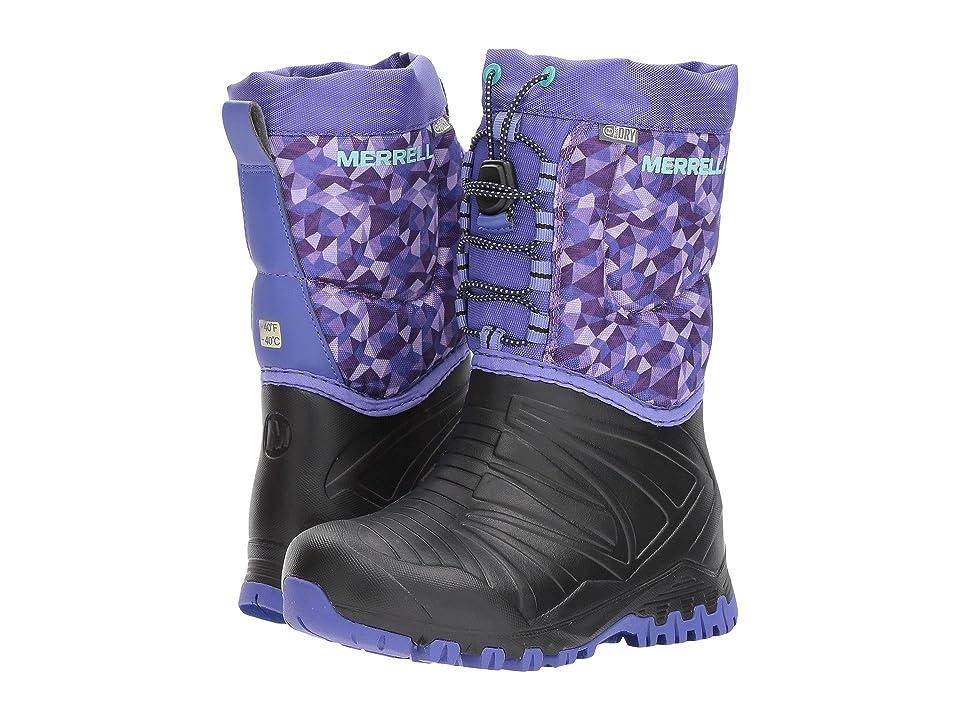 Merrell Kids Snow Quest Lite Waterproof (Little Kid) (Black/Purple) Girls Shoes
