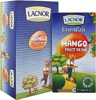 Lacnor Essentials Mango Fruit Drink, 24 x 125 ml, Al Buheira Lacnor