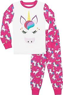 Pijamas de Manga Larga para niñas Unicornio Ajuste Ceñido