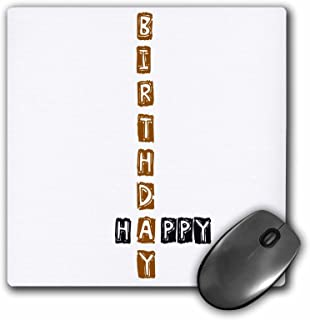 3dRose LLC 8 x 8 x 0.25 Inches Happy Birthday Scrabble Style Fun Word Art Pattern Mouse Pad (mp_49872_1)