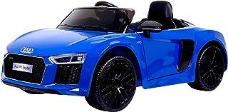 RunRunToys eléctrico Coche Audi R8 Licenciado de 12V con Dos Motores y Control Remoto Recomendado a Partir +3 Años, Color Azul (Herrajes Multimec 4014)