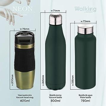 Bergner Botella agua 750ml acero inoxidable verde Walking ...