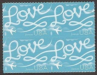 2017 Block of Four Love Skywriting Wedding Forever Stamps Scott 5155
