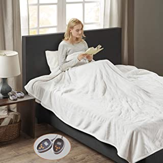 Woolrich Ultra Soft Knitted Plush Reverse to Sherpa Auto Shut Off Electric Blanket with Two 20 Heat Level Setting Controllers, King: 100x90
