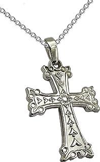 Colgante de plata con cruz - Collar para mujer de plata - Regalo para niña- Crucifijo comunión