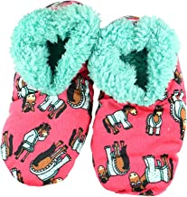 I Don't Do Mornings Womens Plush Fuzzy Feet Slippers by LazyOne | Ladies Soft Fuzzy House Slippers (S/M)