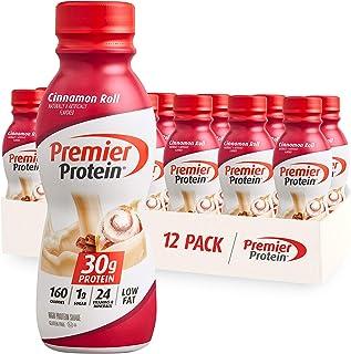 Premier Protein Shake, Cinnamon Roll, 30g Protein, 1g Sugar, 24 Vitamins & Minerals, Nutrients to Support Immune Health 11...