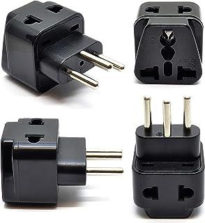 Orei OREI 2 in 1 USA to Switzerland Adapter Plug (Type J) - 4 Pack, Black