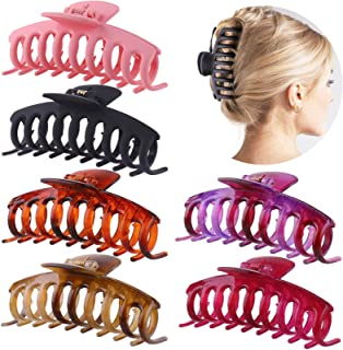 GLAMFIELDS Big Hair Claw Clips 4.3 Inch Non slip Large Claw Clip for Women and Girls Thin Hair, Hair Styling Accessories, ...