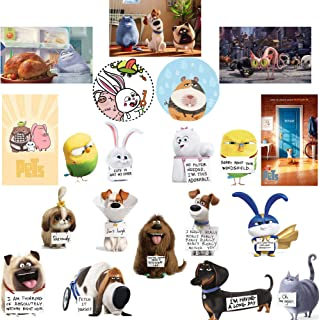 GTOTd Stickers for The Secret Life of Pets 2 (20pcs) PVC Birthday Collection(Premium Quality)