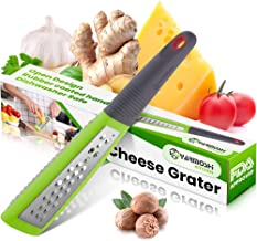 Yarmoshi Stainless Steel Handheld Grater Shredder - For Fruit, Vegetables, Nuts, Cheese and Zest, w/Comfortable, Ergonomic...