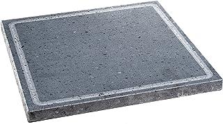Etna Stone & Design Lava Grill Broyeur en pierre de lave Ethnéa Plaque de cuisson 30 x 30 cm pour four et barbecue Cuisson...