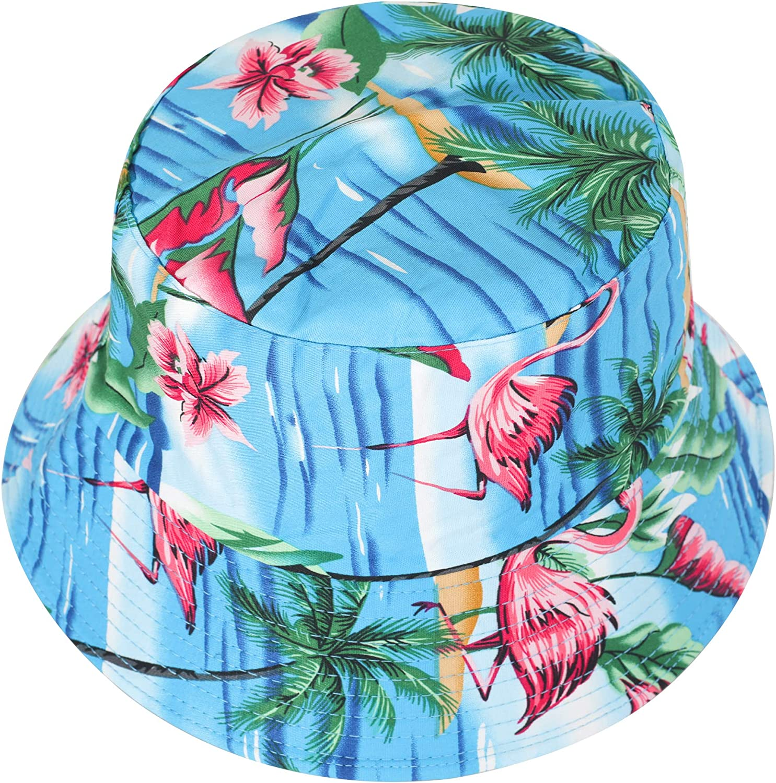 ZLYC Unisex Cute Unique Print Travel Bucket Hat Summer Fisherman Cap