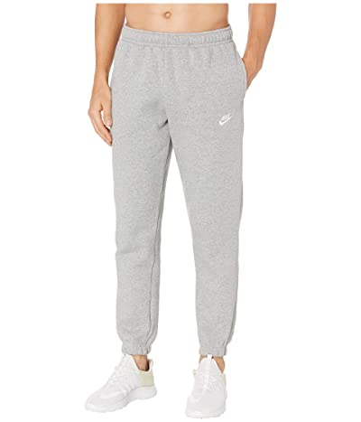 Nike NSW Club Pants Cuffed (Dark Grey Heather/Matte Silver/White) Men