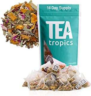 Detox Tea For Weight Loss and Colon Cleanse, Teatox to Burn Body Fat For a Flat Belly, Natural Appetite Suppressant Weightloss Plan and Diet To Feel Lighter and More Energized, Laxative, 14 Days