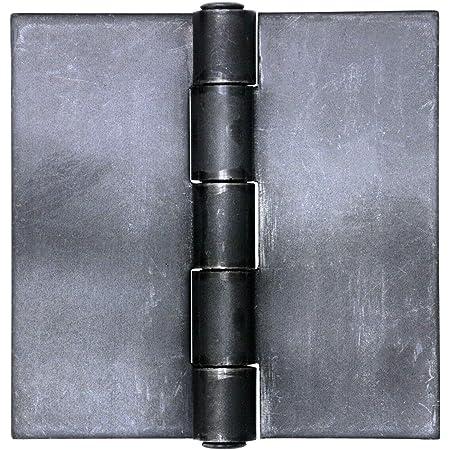 Lot of 6 hinge pickled steel 50 x 30 mm