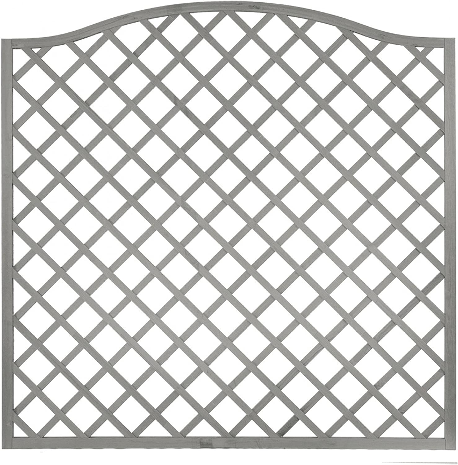Andrewex wooden fence, fencing panel, garden fence 164 180 x 180, varnished, grey