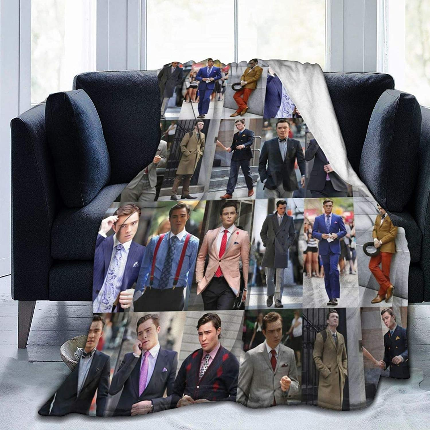 In a popularity Needlove Chuck bass College Throw Ultra Suitable New item Blanket We Soft