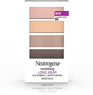 Neutrogena Nourishing Long Wear Eye Shadow + Built-In Primer, 60 Classic Nude, .24 Oz.