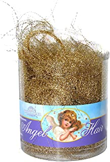 Kurt Adler Electroplated Shimmering Gold Angel Hair (1) Count