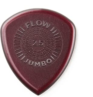 Dunlop 547P 2.5 Flow Jumbo Grip Pick 6 Pack Bundle