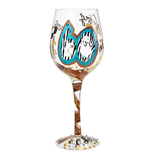 Glamourous Hello Gorgeous 18th Birthday Red Wine Glass with Vintage Artwork in Presentation Box by Mrs Smith
