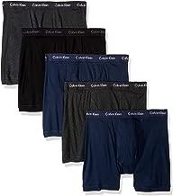 Calvin Klein Men's Cotton Classics Multipack Boxer Briefs, Black/Charcoal Heather/Blue Shadow (5 Pack), S