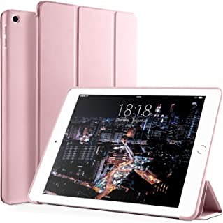 VIKESI iPad 9.7 2018/2017 Case, Slim Protective Case Auto Sleep/Wake Smart Cover with Flexible Soft TPU Back and Trifold Stand for Apple iPad 6th,5th Gen (A1822 / A1823 / A1893 /A1954) - Rose Gold
