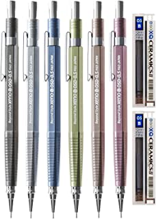 Xeno OSD Sharp Mechanical Pencil 0.5mm R&D Japan (6-Pack + Lead, Assorted)