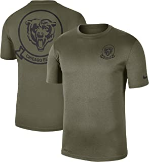 Chicago Bears 2019 Men's NFL Salute to Service Olive Short Sleeve