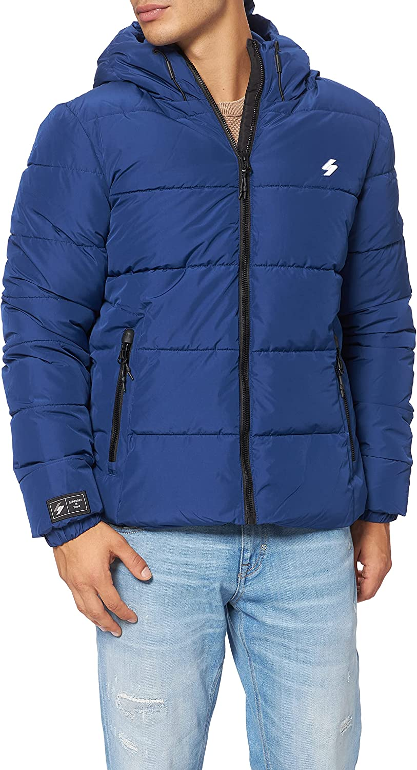 Superdry Hooded Sports Puffer Chaqueta para Hombre