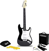 RockJam 6 String Electric Guitar Pack, Right, Black (RJEG02-SK-BK)
