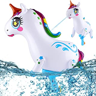 PhyPa Unicorn Water Guns for Kids, Inflatable Super Squirt Toy, Water Soaker Blaster Toy for Girls and Boys, Children Summ...
