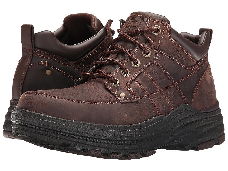 SKECHERS Relaxed Fit Holdren Lender (Dark Brown Leather) Men