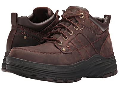 SKECHERS Relaxed Fit Holdren Lender (Dark Brown Leather) Men