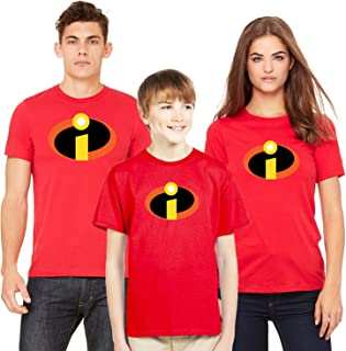Incredibles Logo Tee Shirt Halloween Costume Family Shirts (Sold Separately)