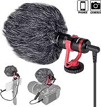 Professional Hi-sensity Hi-fidelity Mini Shotgun Video Condenser Microphone External Mic Compatible for DSLR Camera Camcorder Smartphone iPhone for Interview Podcast Live Streaming Vlog Youtube Studio