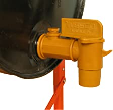 """Wesco 272179 Polyethylene Deluxe Drum Faucet with EPDM Gasket, 2"""" NPT Connection"""