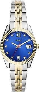 Fossil Women's Scarlette Mini Quartz Watch with Stainless Steel Strap, Multicolor, 16 (Model: ES4899)