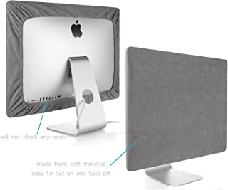 Kuzy - iMac Cover 21 inch | Monitor Cover 21 inch Computer Screen Protector (Models A1418 A1311 A1224) Newest Version Retina 4K iMac 21.5 inch Cover - Gray