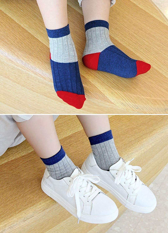 2-11 Years Boys Cotton Socks Kids Casual Funky Crew Socks Sports School Socks 5 pairs