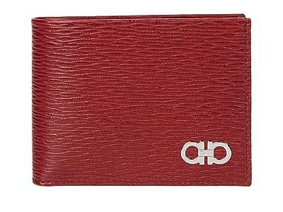 Salvatore Ferragamo Revival Gancio Bifold 66A064 (Ferragamo Red/Black) Wallet Handbags